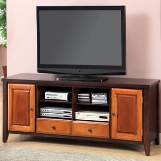 Furniture of America Pelican Duo-Tone Multi-Storage TV Console