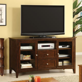 Furniture of America Chandler Assembled Dark Walnut Entertainment Console
