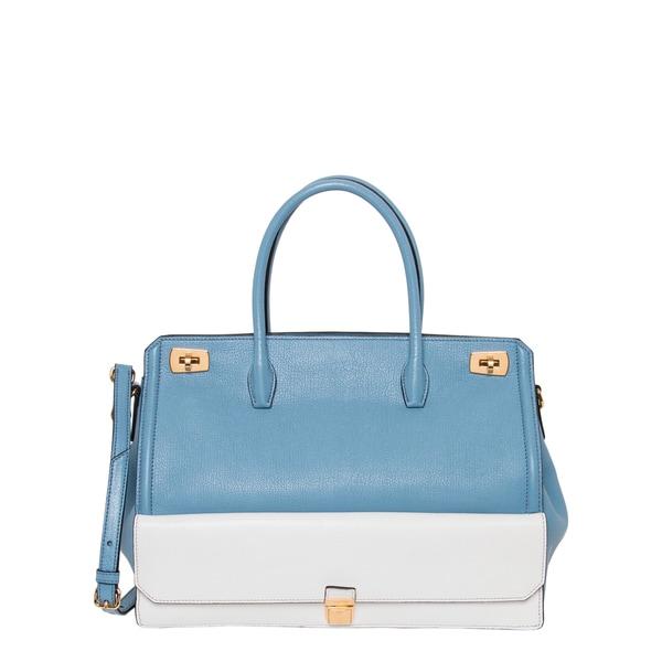 Shop Miu Miu Two-tone Leather Tote Handbag - Free Shipping Today ... 97d4101728d54