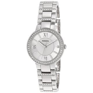 Fossil Women's ES3282 Virginia Analog Silvertone Stainless Steel Watch