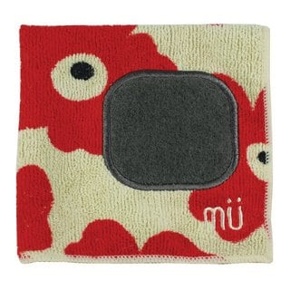 Mukitchen Red Poppy Mumodern Microfiber Dishcloth