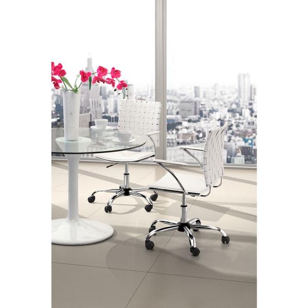 Criss Cross White Office Chair