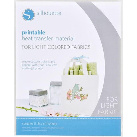 Silhouette Printable Heat Transfer Material For Light Or Dark Fabrics.