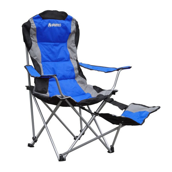 Gigatent Blue Camping Chair with Footrest