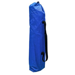 Blue Polyester Foldable Footrest Camping Chair