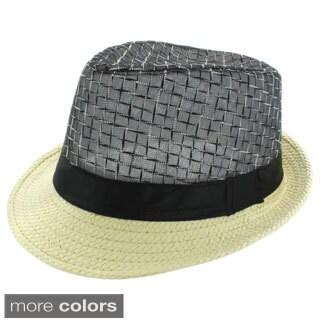 Faddism Men's Two-tone Fashion Fedora Hat