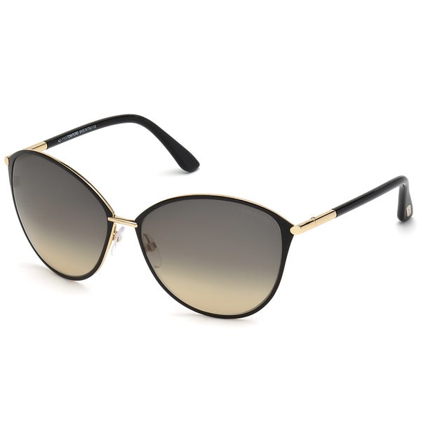 dd7beb8b9959d Shop Tom Ford Womens  Penelope  Rose Gold Metal Cat-eye Sunglasses ...