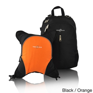 Obersee Rio Diaper Bag Backpack with Detachable Cooler (Black/Orange)