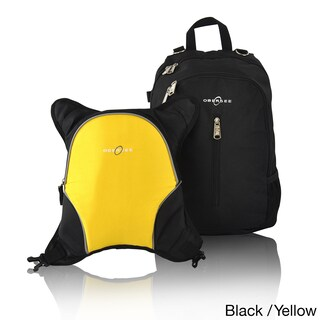 Obersee Rio Diaper Bag Backpack with Detachable Cooler (Option: Black/Yellow)