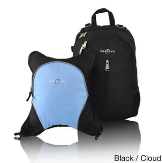 Obersee Rio Diaper Bag Backpack with Detachable Cooler (Black/Cloud)