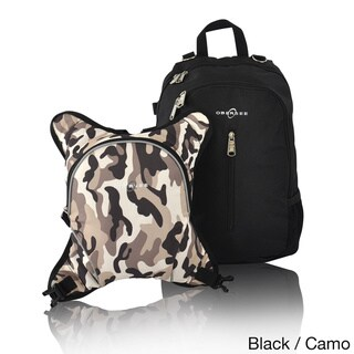 Obersee Rio Diaper Bag Backpack with Detachable Cooler (Black/Camo)