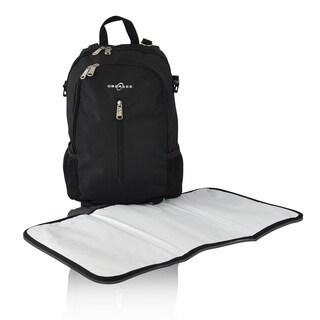 Obersee Rio Diaper Bag Backpack in Black