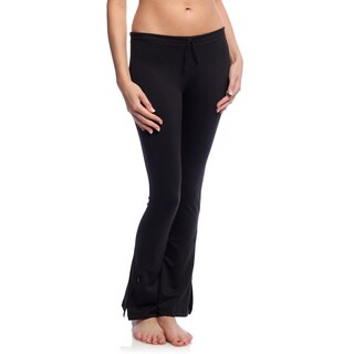 Women's Black Tactel/ Lycra Workout Pants
