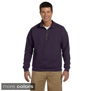 Gildan Men's Heavy Blend Vintage Classic Quarter-zip Cadet 8-ounce Collar Sweatshirt https://ak1.ostkcdn.com/images/products/9181738/P16356523.jpg?impolicy=medium