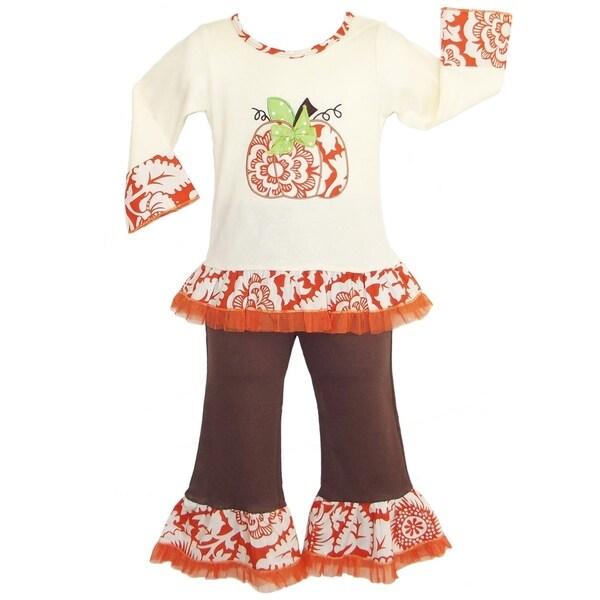 6eae1845b05d2 AnnLoren Girls' Boutique Autumn Pumpkin Patch Outfit