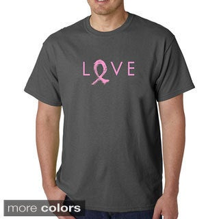 Los Angeles Pop Art Men's Cancer Ribbon Love T-shirt