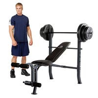 Marcy Diamond Bench with 100-pound Weight Set
