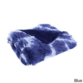 Giovanni Tip Dye Plush Faux Fur Throw