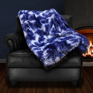 Giovanni Tip Dye Plush Faux Fur Throw