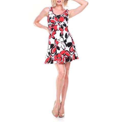 White Mark Women's Fit and Flare Sundress