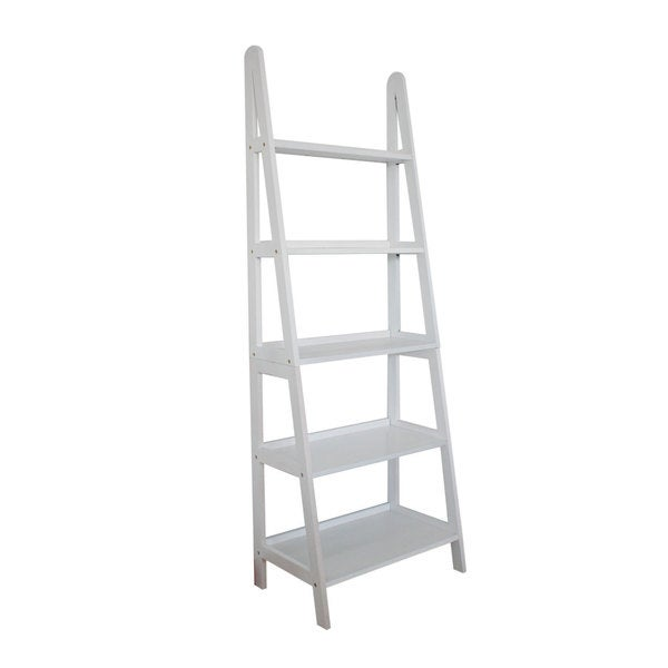 shop mintra 5 tier a frame white ladder shelf free shipping today overstock 9181897. Black Bedroom Furniture Sets. Home Design Ideas