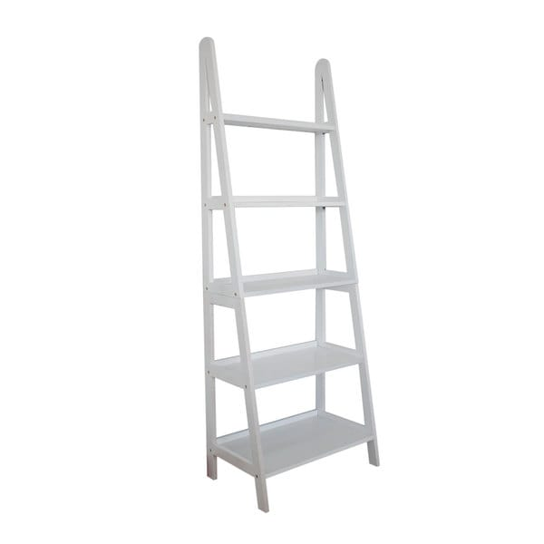 shop mintra 5 tier a frame white ladder shelf free shipping today 9181897. Black Bedroom Furniture Sets. Home Design Ideas