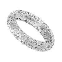 14k White Gold Stilnovo Mesh Wire Ring