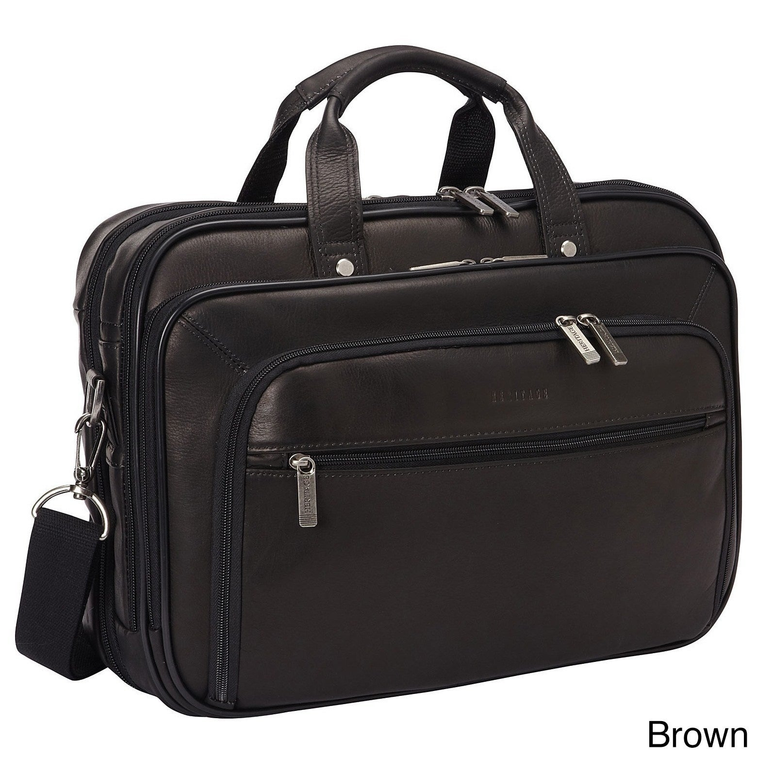 Heritage Travelware Full Grain Colombian Leather Tsa Checkpoint Friendly Ez Scan 15 6 Inch Laptop Briefcase