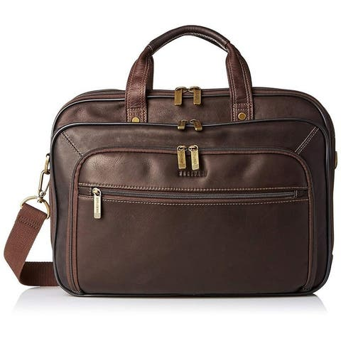 Heritage 16-inch Laptop & Tablet Full-Grain Colombian Leather Portfolio TSA Checkpoint Friendly EZ-Scan Briefcase