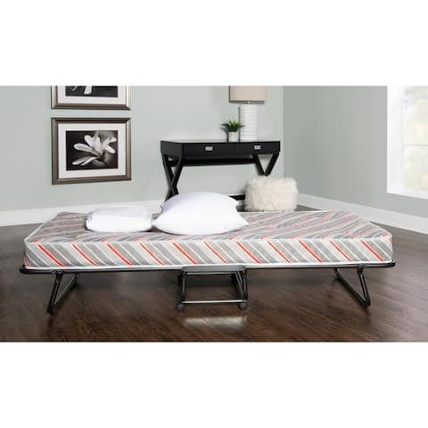 Linon Naples Roll Away Guest Bed with Mattress