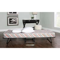 Linon Naples Roll Away Guest Bed with Mattress - White