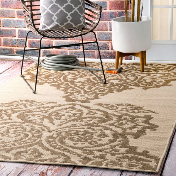 nuLOOM Indoor Outdoor Aperto Porch Rug 7 10 x 10 10