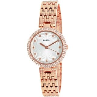 Fossil Women's ES3347 Olive Analog Display Analog Quartz Rose Goldtone Watch