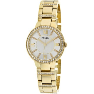 Link to Fossil Women's ES3283 Virginia Analog Display Analog Quartz Goldtone Watch Similar Items in Women's Watches