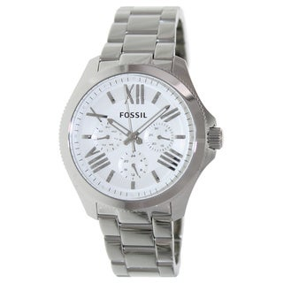Fossil Women's AM4509 Cecile Analog Display Analog Quartz Silvertone Watch
