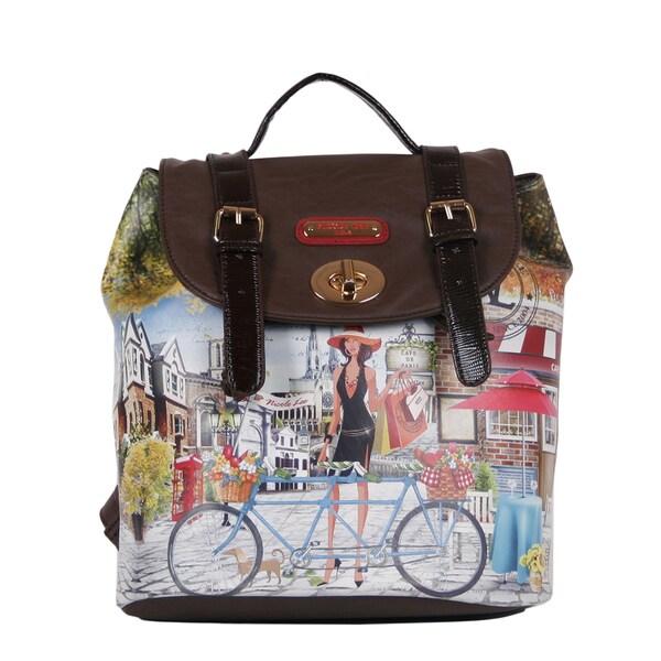 Nicole Lee Bicycle Print Backpack