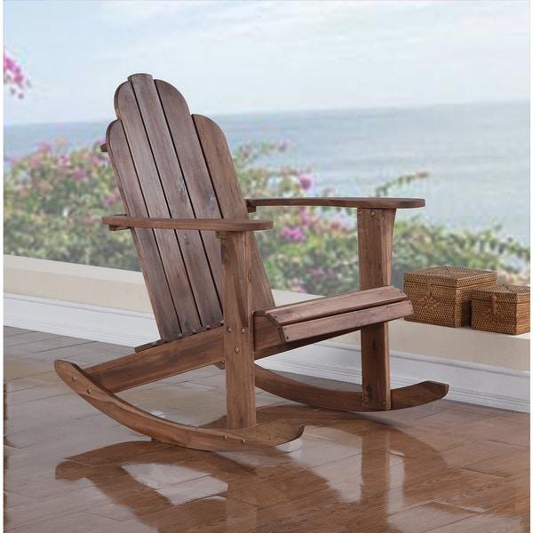 Shop Woodstock Teak Rocking Chair Overstock 9182169
