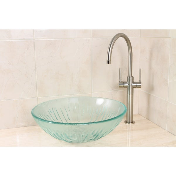 clear glass bathroom sinks shop clear glass vessel bathroom sink free 17777