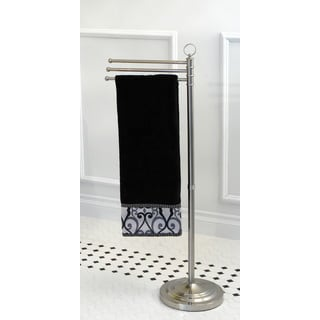 Pedestal Satin Nickel Towel Bar