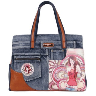 Nicole Lee Wanda Marina Print 16-inch Laptop Tote Bag