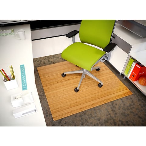 Jani Eco Bamboo Deluxe Rectangular 3.5 x 4 ft. Chair Mat