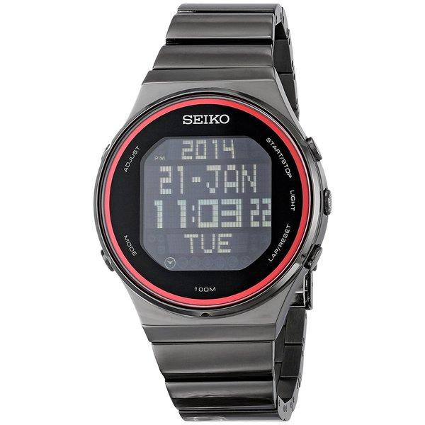 Seiko Men S Stp013 Digital Chronograph Black Ion Stainless Steel Watch