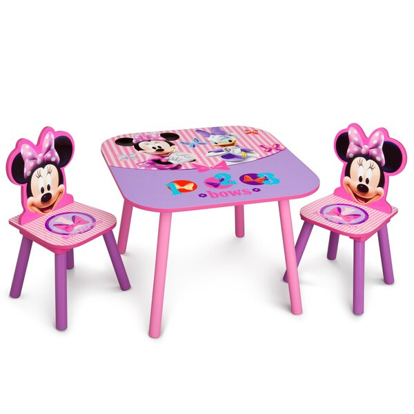 Disney Minnie Mouse Wooden Table and Chair Set  sc 1 st  Overstock.com & Disney Minnie Mouse Wooden Table and Chair Set - Free Shipping Today ...