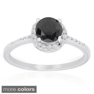 Dolce Giavonna Sterling Silver Gemstone Solitaire Ring