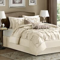 Madison Park Lafayette Cal King Ivory 7-piece Cal-King Comforter Set in Ivory (As Is Item)