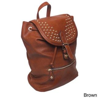 Lithyc 'Kai' Vogue Vegan Leather Stud Backpack