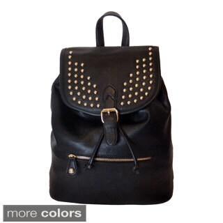 Lithyc 'Kai' Vogue Vegan Leather Stud Backpack