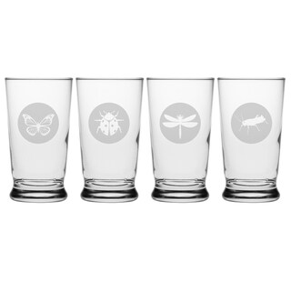 Garden Guests Footed Juice Glasses (Set of 4)