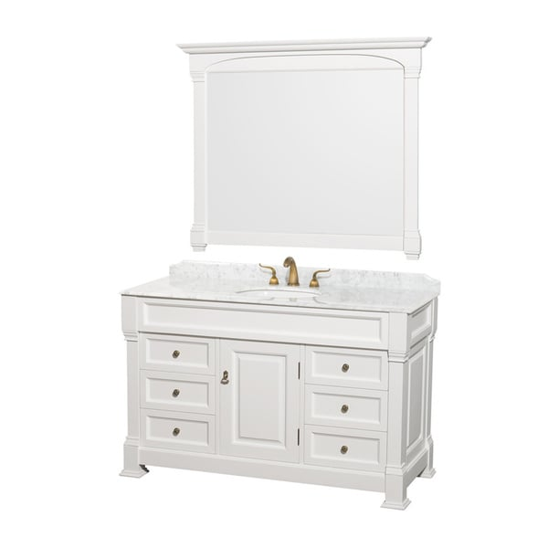 55 Inch Bathroom Vanity. Wyndham Collection Andover Single 55 Inch White Bathroom Vanity And Mirror Set