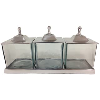 Apothecary 3-jar Set with Tray & Lids